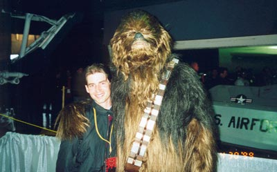 Chewbacca and I at the Denver Star Wars Celebration.